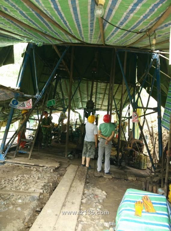 一三五队生产安全部到河坝项目检查指导工作
