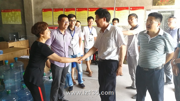 局党委书记、局长王庆兴一行到一三五队合江项目部视察指导工作