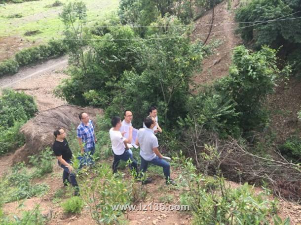 一三五队党委书记戴敬儒、总工程师何青云到云南地灾项目检查指导工作