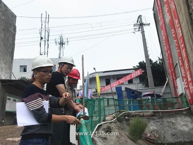 """一三五队党委书记戴敬儒一行到潮河卫生院综合楼""""PPP""""项目检查指导工作"""