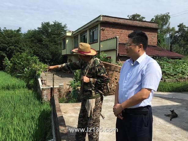 副局长徐锡惠一行到一三五队检查指导地质灾害巡、排查及汛期督导工作