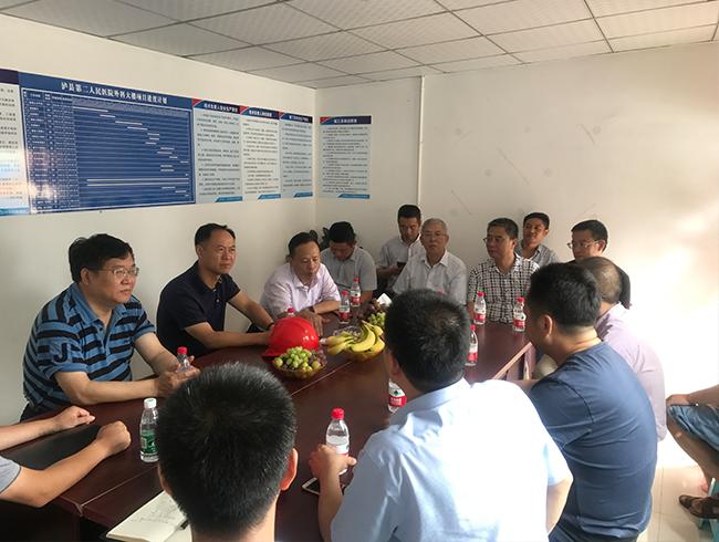 驻局纪检组组长刘述祥一行赴一三五队职教院项目和泸县投资项目施工现场视察指导工作