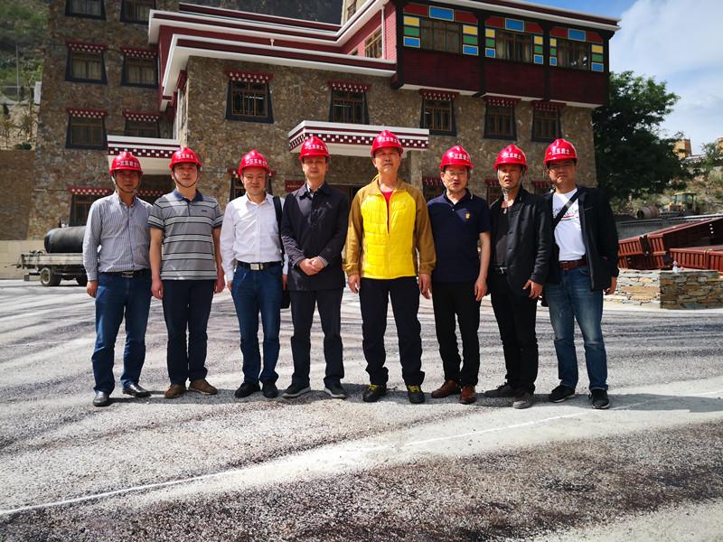 副局长杨明轩到一三五队丹巴县应急地灾治理项目检查指导工作