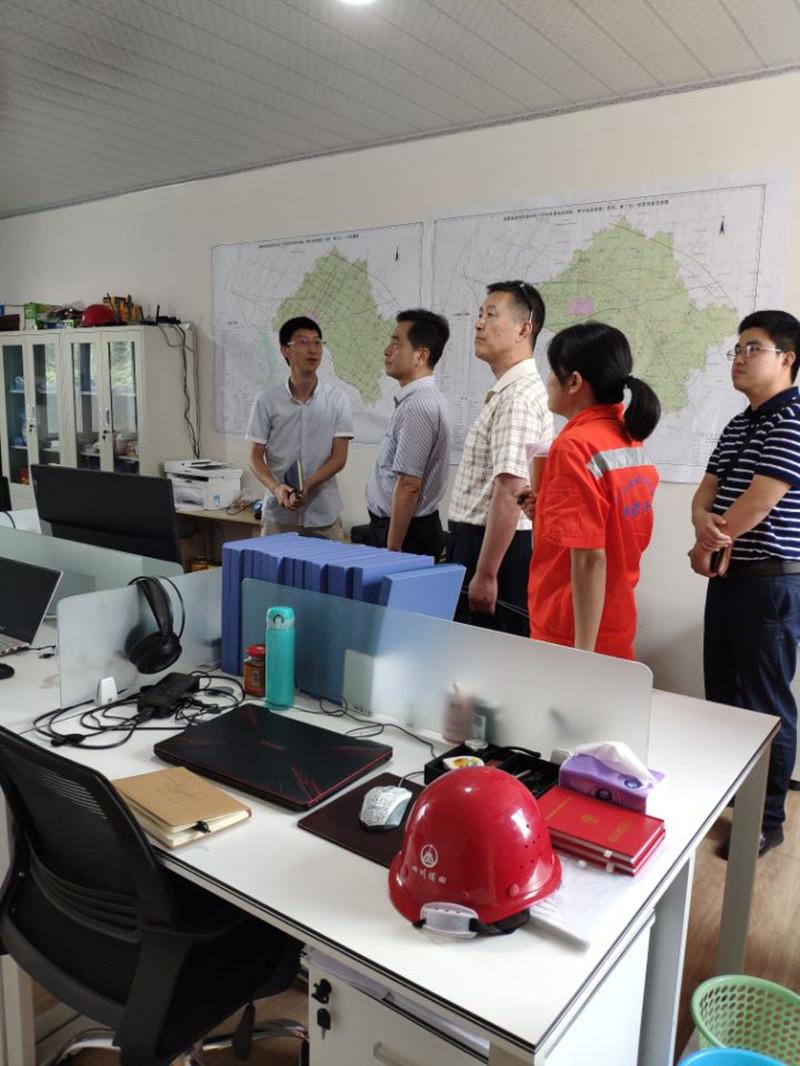 副局长李茂竹一行到成都高新东区城市地下空间资源地质调查(第三包)项目检查指导工作