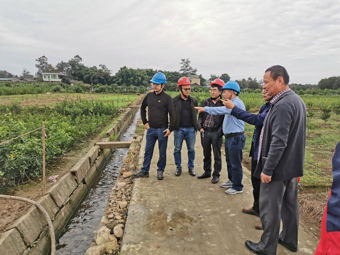 局机关领导到一三五队蒲江项目部检查指导工作