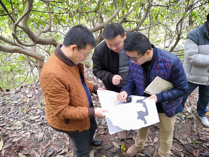 一三五队党委书记、队长戴敬儒到成都龙泉山城市地质调查项目检查指导工作