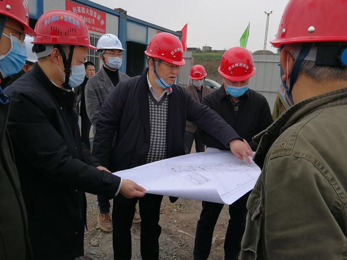 副局长王永奎一行检查指导泸县水云间开发项目工作